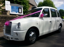 White wedding Taxi in Newport, Gwent